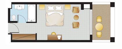 Double Guestroom Floorplan
