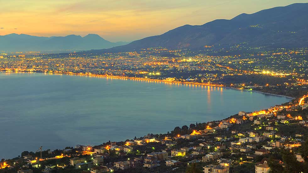 Panorama of the city of Kalamata peloponnese