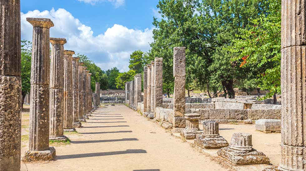 ancient olympia peloponnese greece
